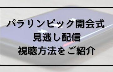 パラリンピック開会式の見逃し配信を無料視聴する方法は?YouTubeで動画フルが見れる?